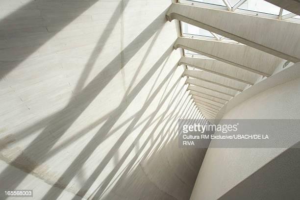 Shadows on modern wall