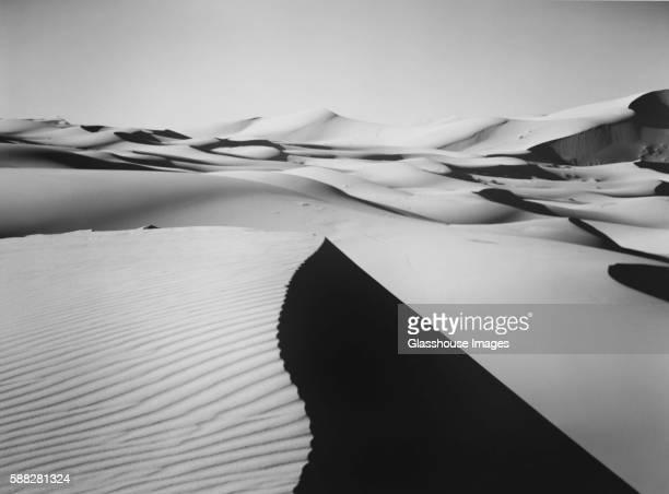 Shadows on Sand Dunes, Sahara Desert, Merzouga, Morocco