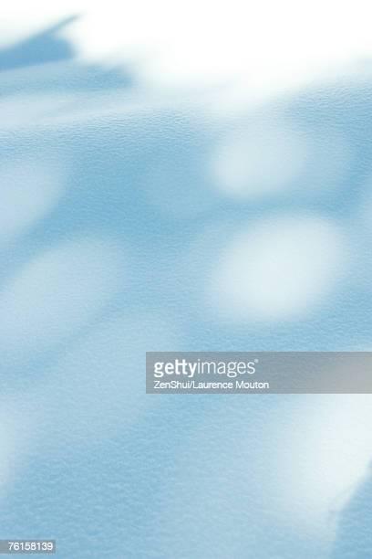Shadows on snow, full frame
