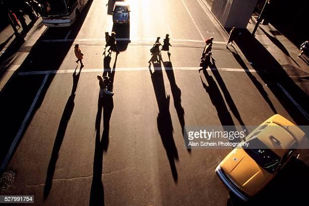 Shadows on the crosswalks
