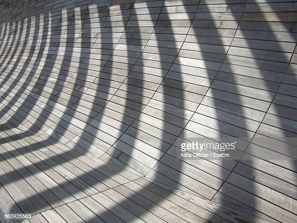 Shadows On Wooden Built Structure