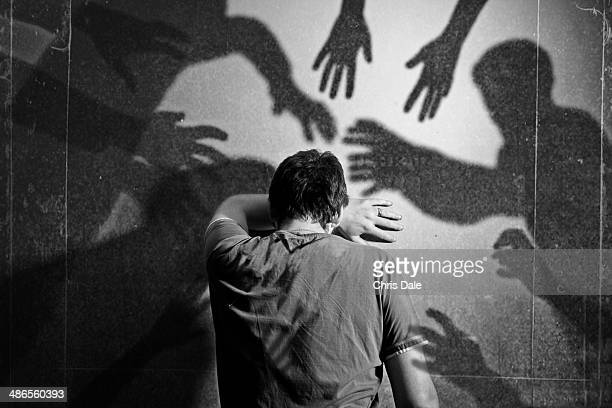 shadows - fear stock pictures, royalty-free photos & images