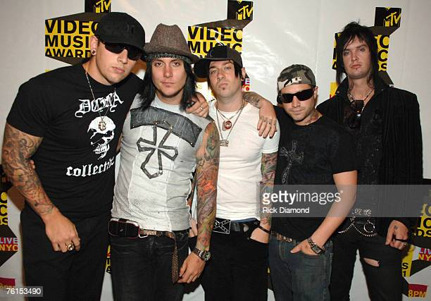 M Shadows Synyster Gates Zacky Vengeance Johnny Christ and The Rev of Avenged Sevenfold