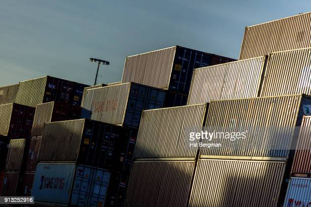 Shadowy Shipping Containers