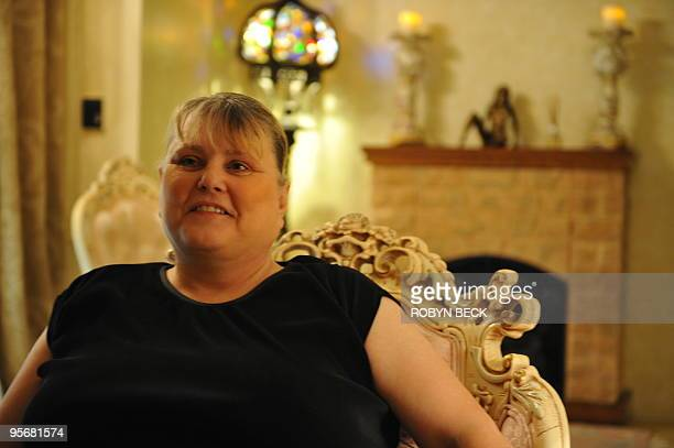 Shady Lady Ranch brothel owner and operator Bobbi Davis poses in the parlor room at the brothel in Nye County Nevada about 150 miles north of Las...