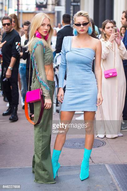 Shae Marie and Caroline Vreeland attend the Baja East fashion show during New York Fashion Week in SoHo on September 12 2017 in New York City