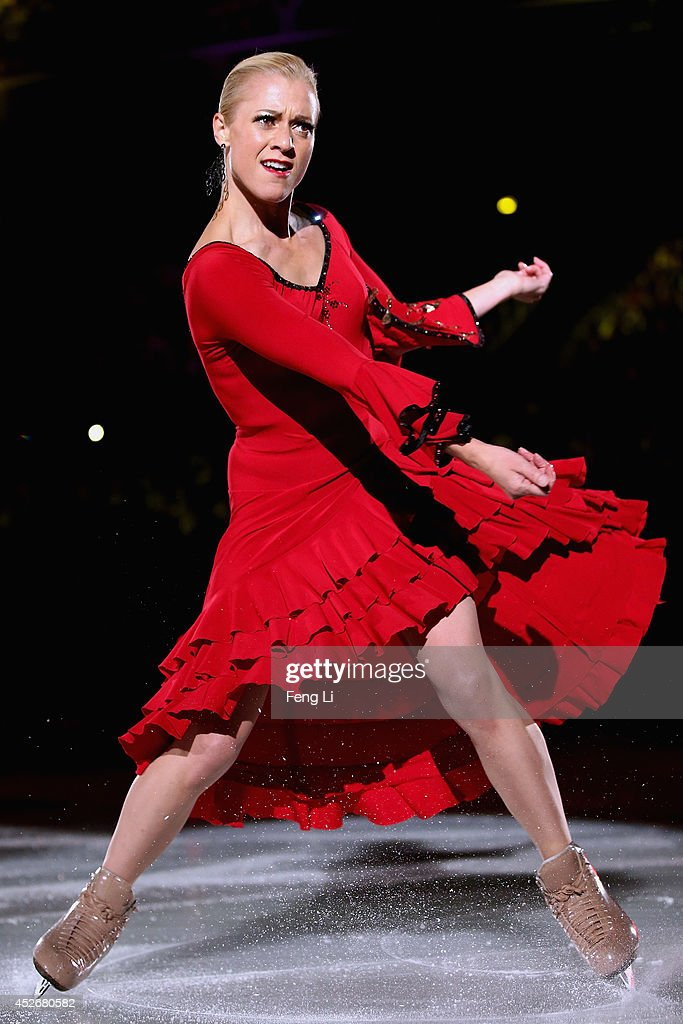 Shae-Lynn Bourne of Canada performs during Artistry On Ice 2014 on July 25, 2014 in Beijing, China.