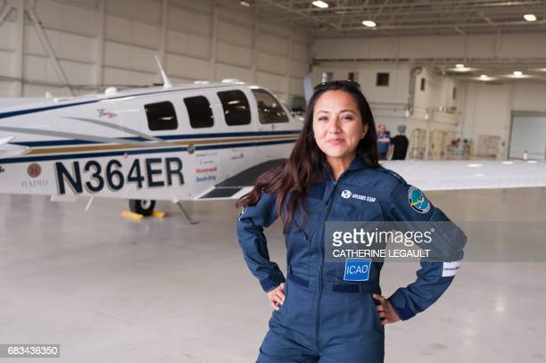 Shaesta Waiz Afghanistans first female certified civilian pilot and a recent graduate of EmbryRiddle Aeronautical University poses after arriving in...