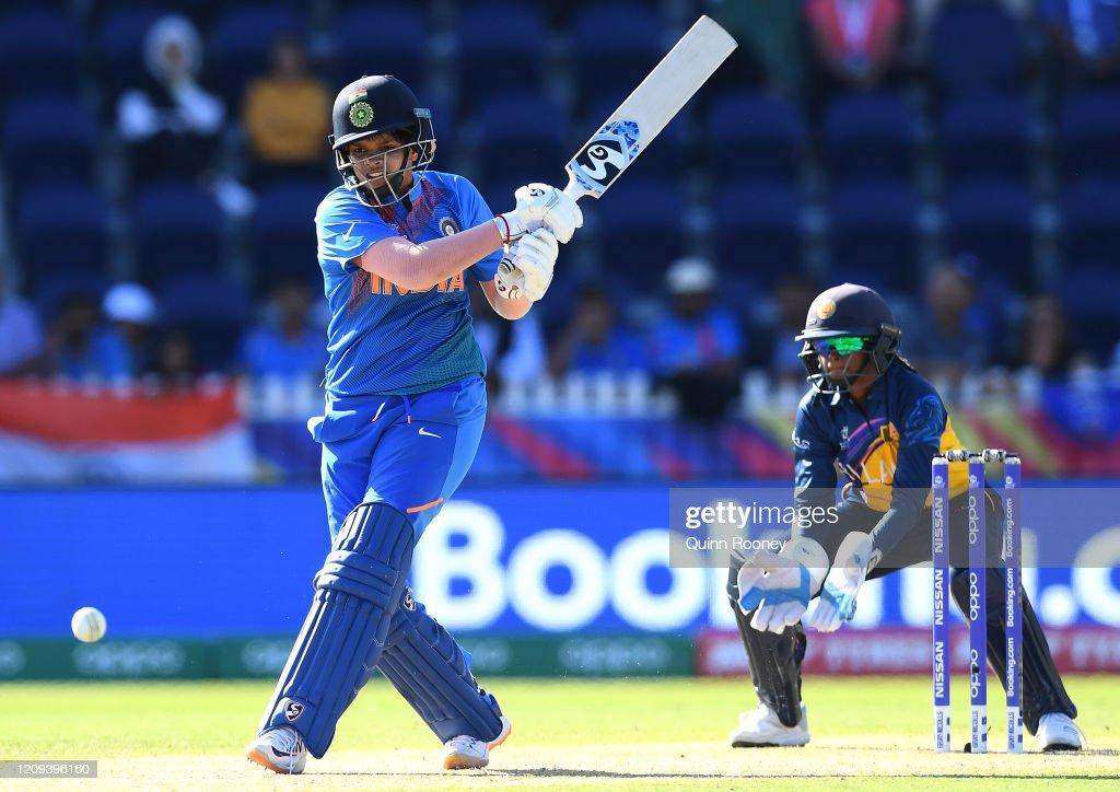 India v Sri Lanka - ICC Women's T20 Cricket World Cup : News Photo