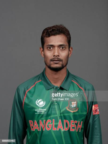 Shafiul Islam of Bangladesh poses for a picture during the Bangladesh Portrait Session for the ICC Champions Trophy at Grand Hyatt on May 26 2017 in...