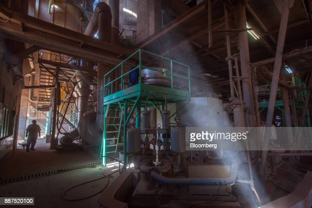 A shaft of light pierces the spray dryer department at the Shabbir Tiles Ceramics Ltd production facility in Karachi Pakistan on Wednesday Dec 6 2017...