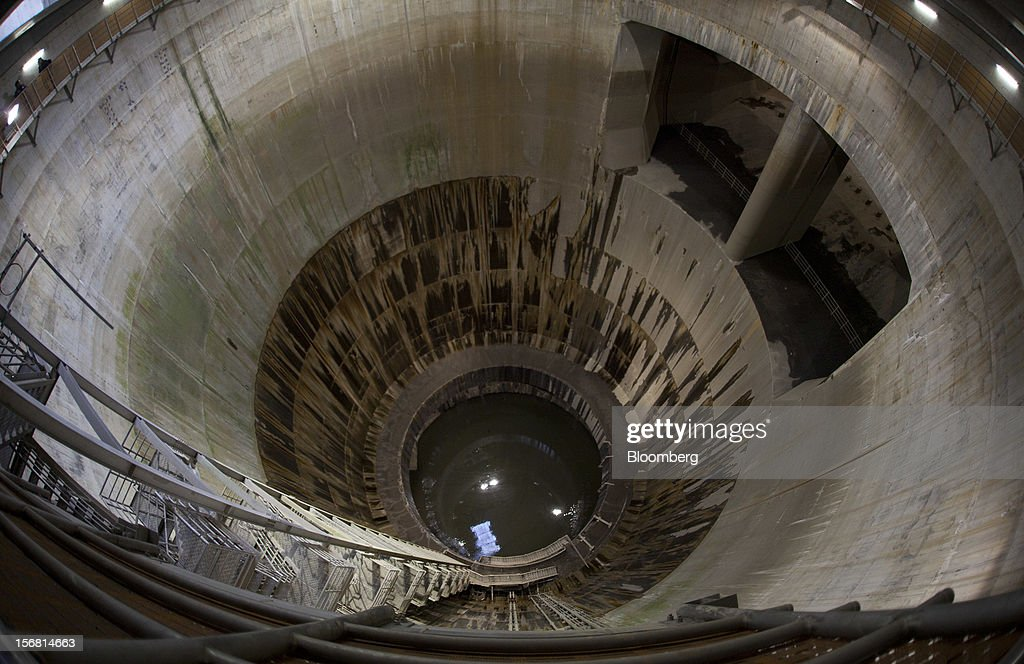 Tour Of Metropolitan Area Outer Underground Discharge Channel : News Photo