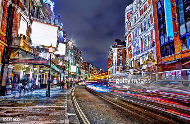 shaftesbury avenue on a saturday night - anatoleya stock pictures, royalty-free photos & images