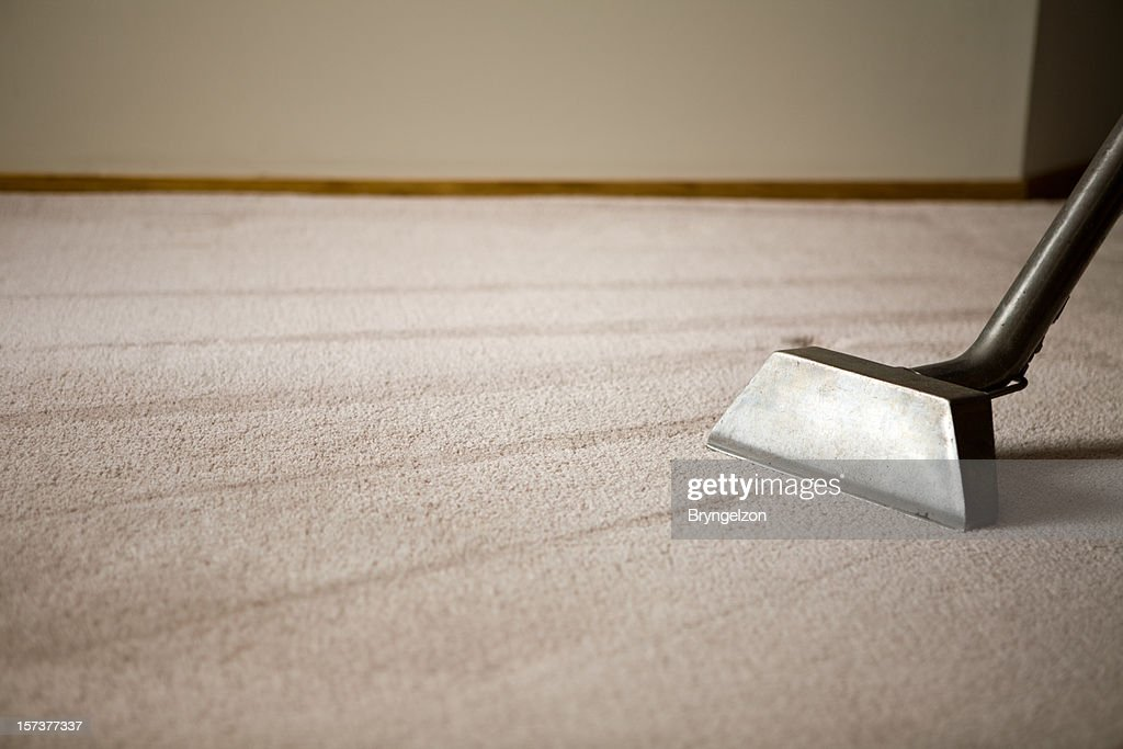 Shag Rug with Carpet Cleaning Equipment : Stock Photo