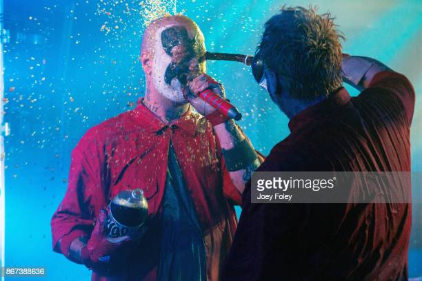 Shaggy 2 Dope and Violent J of Insane Clown Posse perform live in front of a sold out crowd at The Emerson Theater on October 27 2017 in Indianapolis...