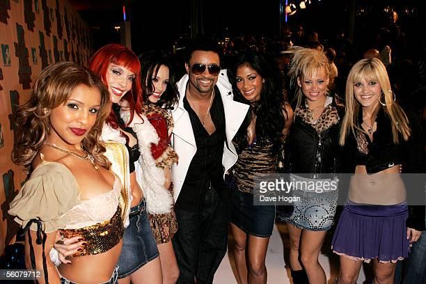 Shaggy and Pussycat Dolls Melody Thornton Carmit Bachar Jessica Sutta Nicole Scherzinger Kimberly Wyat and Ashley Roberts arrive at the 12th annual...