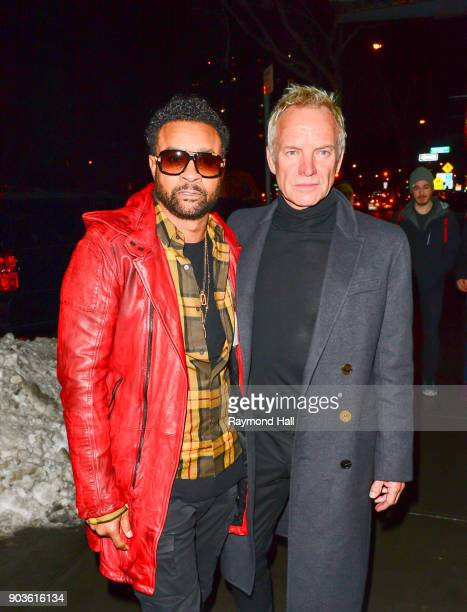 Shaggy and Sting are seen in Soho on January 10 2018 in New York City