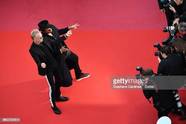 Shaggy and Sting attend the Closing Ceremony and the screening of 'The Man Who Killed Don Quixote' during the 71st annual Cannes Film Festival at...