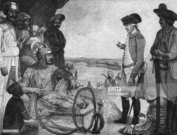 Shah Alam II Mughal Emperor of India reviewing the East India Company's troops 1781 An illustration from A Short History of the English People by...