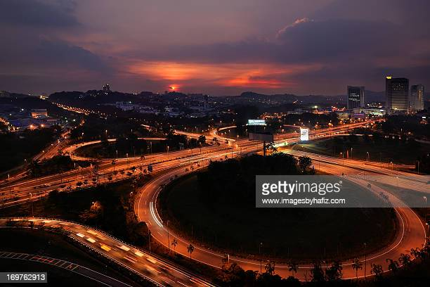 shah alam sunset - shah alam stock photos and pictures