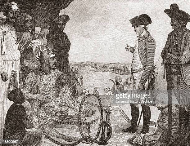 Shah Allum Mogul Of Hindustan Reviewing Troops Of The British East India Company C1781 From The Book Short History Of The English People By JR Green...