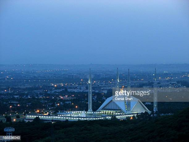 Shah Faisal Masjid  at night in Islamabad