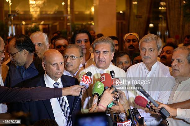 Shah Mehmood Qureshi vicechairman of the Pakistan TehreekeInsaaf party of cricketturnedopposition politician Imran Khan and Chaudhry Sarwar governor...