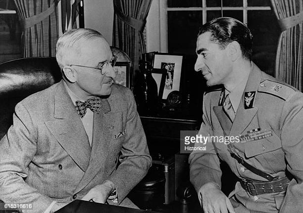 Shah Mohammed Reza Pahlavi visits President Truman at the capitol November 20 1949