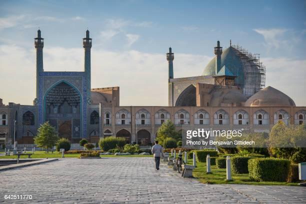 Shah Mosque and gate at Naqsh-e-Jahan Square, Isfahan, Iran