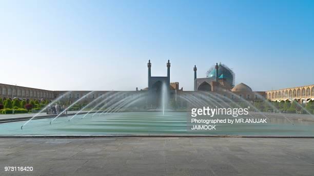 shah mosque in esfahan, iran - isfahan stock-fotos und bilder