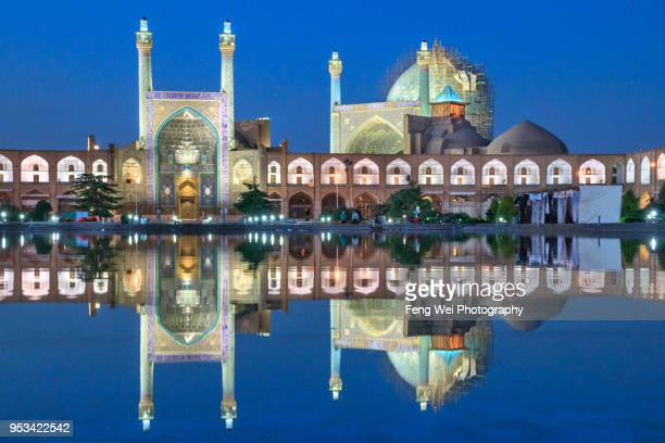 shah mosque (masjed-e shah), isfahan, iran - isfahan province stock pictures, royalty-free photos & images
