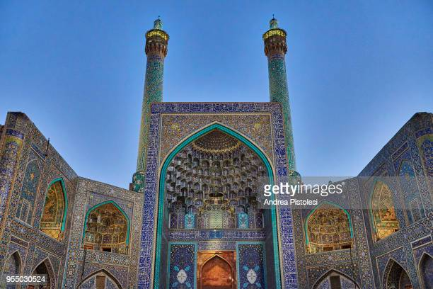 shah mosque, isfahan, iran - isfahan stock pictures, royalty-free photos & images