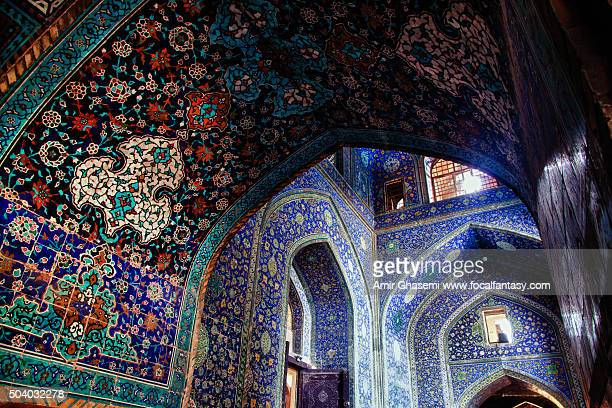 shah (imam) mosque - isfahan stock pictures, royalty-free photos & images