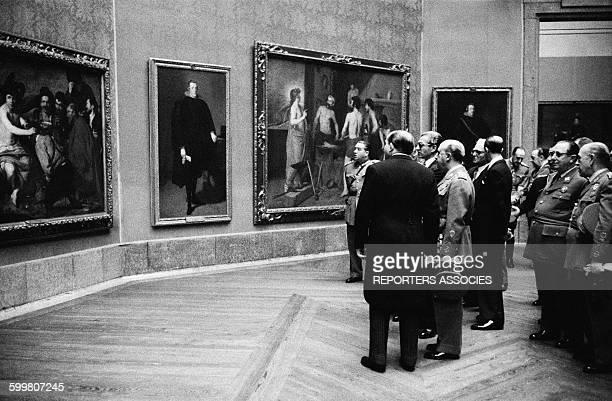 Shah Of Iran Mohammad Reza Pahlavi At Prado Museum In Madrid Spain In 1957