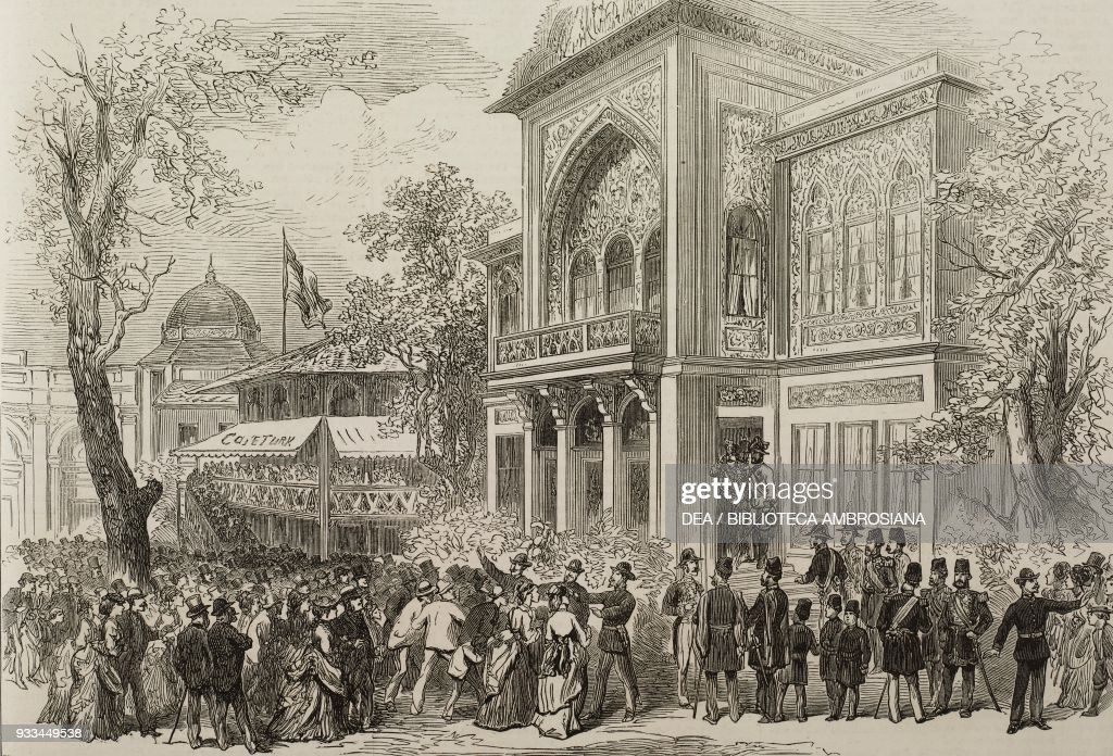 Shah of Persia, the Vienna World Exposition : News Photo