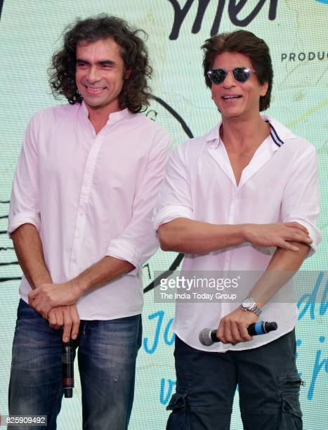 Shah Rukh Khan and Imtiaz Ali during a launch of 'Hawayein' a song from their upcoming film 'Jab Harry Met Sejal' in Mumbai
