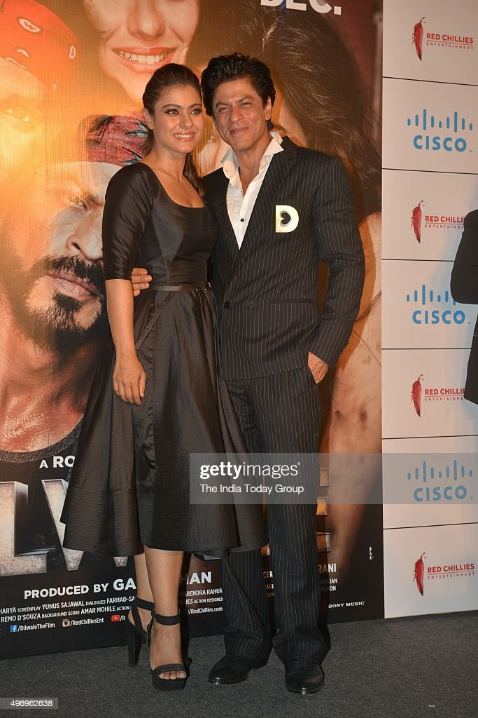 Shah Rukh Khan and Kajol at the trailer launch of their movie DILWALE in Mumbai