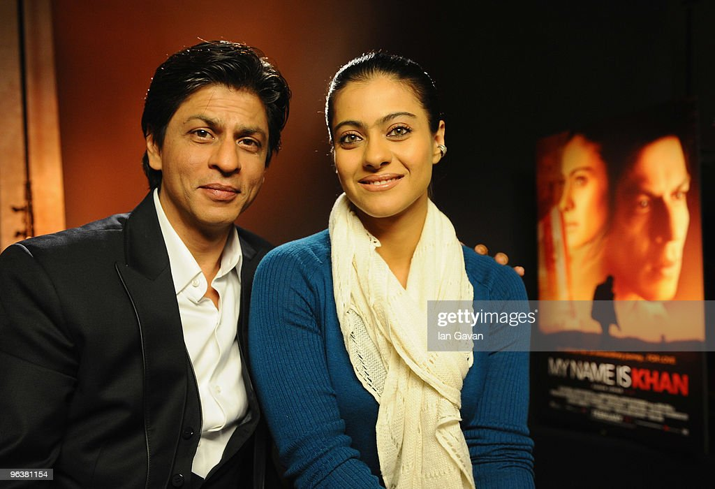 Shah Rukh Khan and Kajol attends the `My Name Is Khan` press conference at the Courhouse Hotel on February 3 2010 in London England