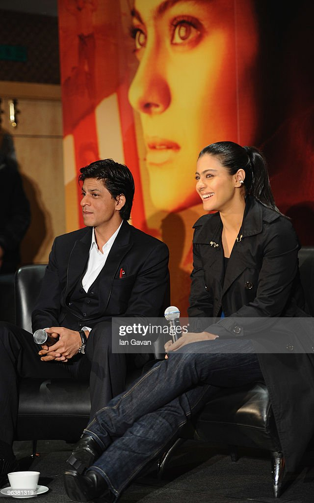 Shah Rukh Khan and Kajol attends the `My Name Is Khan` press conference at the Courthouse Hotel on February 3 2010 in London England