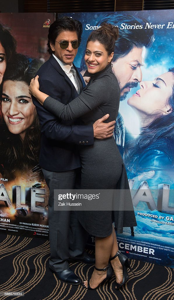 Shah Rukh Khan and Kajol Devgan attending the photocall for `Dilwale` in London