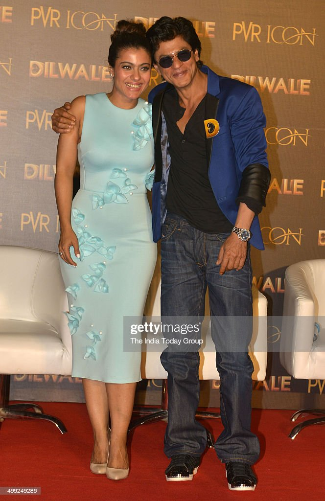 Shah Rukh Khan and Kajol during the song launch of their upcoming movie Dilwale in Mumbai