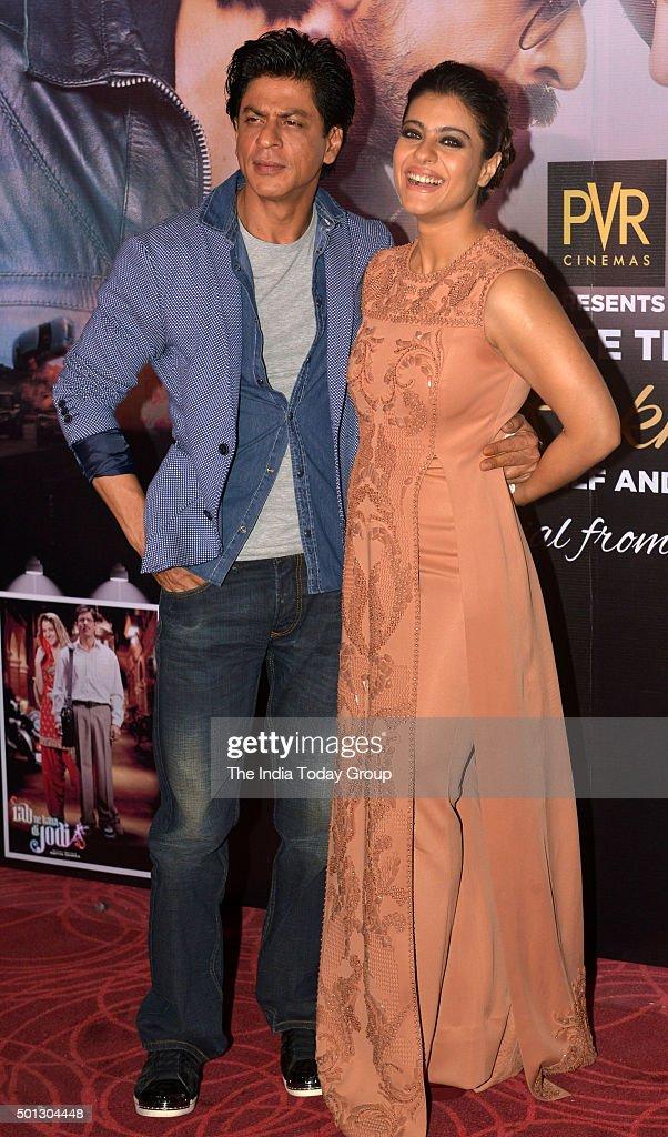 Shah Rukh Khan and Kajol promoting their movie `Dilwale` in Mumbai