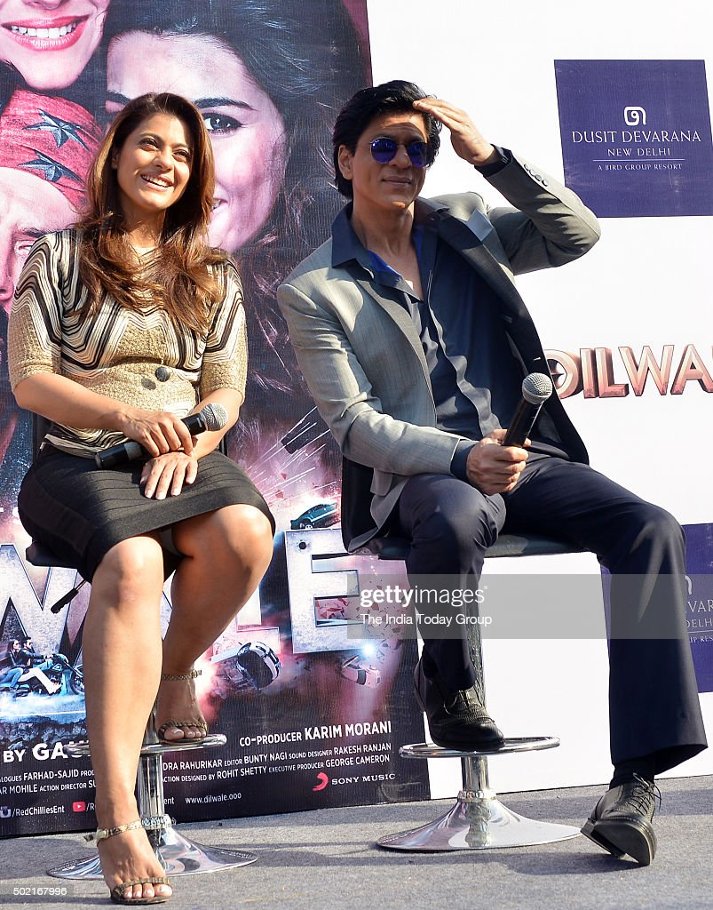Shah Rukh Khan and Kajol promoting their upcoming movie `Dilwale` in New Delhi
