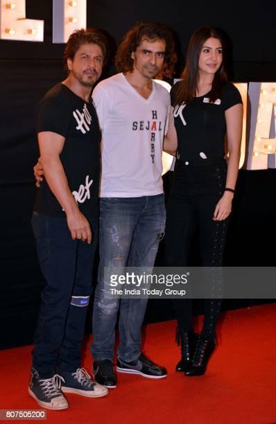 Shah Rukh Khan Anushka Sharma and Imtiaz Ali at the song launch of Beech beech mein from Jab Harry Met Sejalin Mumbai