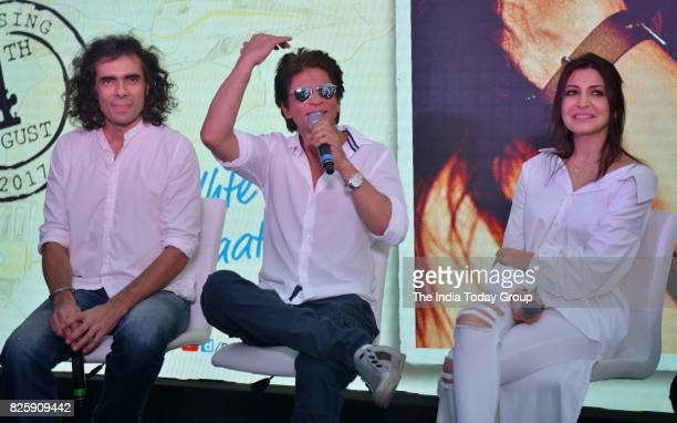 Shah Rukh Khan Anushka Sharma and Imtiaz Ali during a launch of 'Hawayein' a song from their upcoming film 'Jab Harry Met Sejal' in Mumbai
