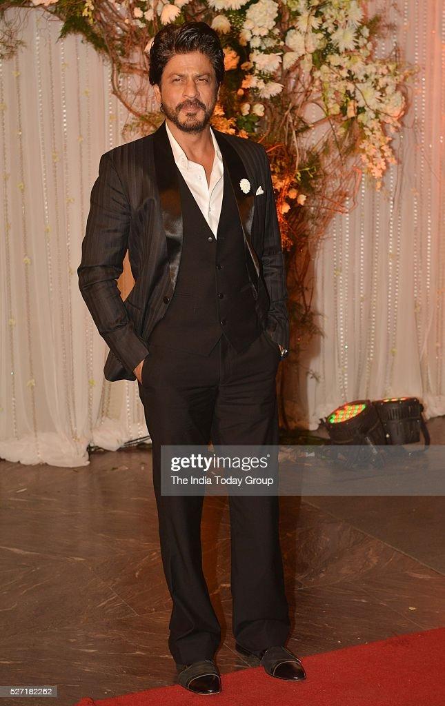 Shah Rukh Khan at Bipasha Basu and Karan Singh Grovers wedding reception ceremony at St Regis Hotel in Mumbai