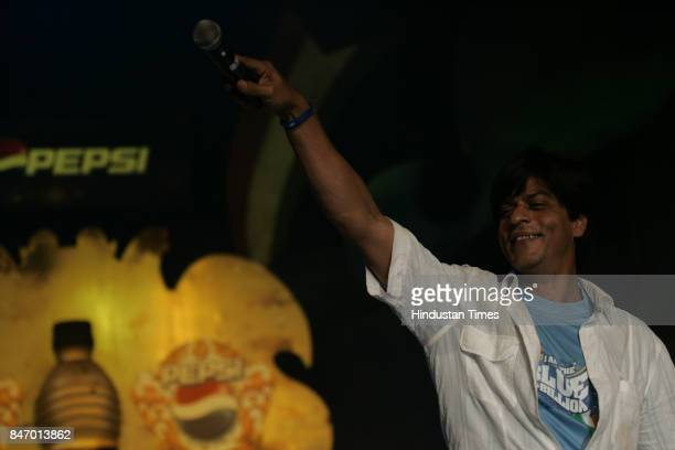 Shahrukh Khan at the farewell function of the Indian cricket team organised by Pepsi before their departure to the Cricket World Cup 2007