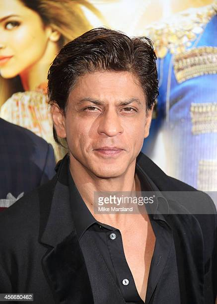 Shah Rukh Khan attends a photocall for 'Happy New Year' at Montcalm Marble Arch on October 5 2014 in London England