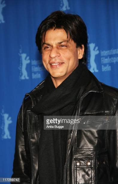 Shah Rukh Khan attends the Om Shanti Om photocall during day two of the 58th Berlinale International Film Festival held at the Grand Hyatt Hotel on...