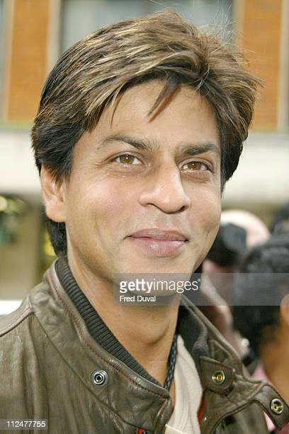 Shah Rukh Khan during Bollywood Stars Promote Temptation 2004 at Washington Hotel in London Great Britain